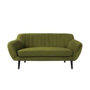 Canapea cu 2 locuri și picioare negre Mazzini Sofas Toscane, verde