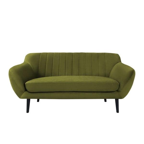 Zelená sametová pohovka Mazzini Sofas Toscane, 158 cm
