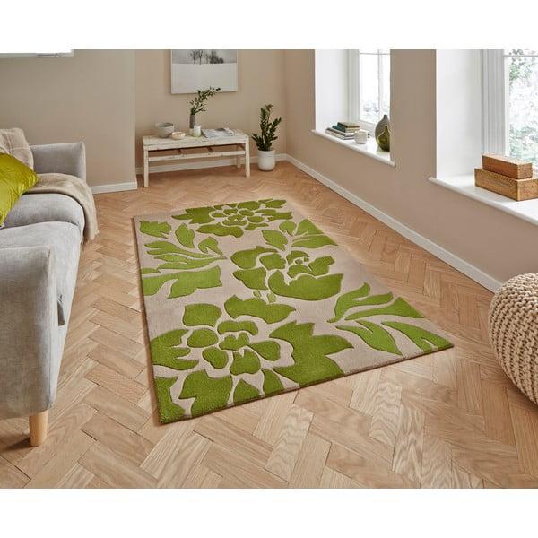 Béžovo-zelený koberec Hong Kong, 120x170 cm