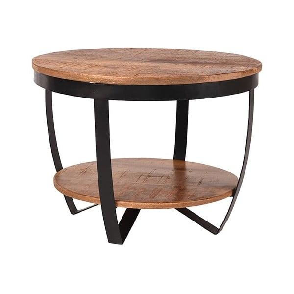 Odkladací stolík s doskou z mangového dreva LABEL51 Rondo, ⌀ 60 cm