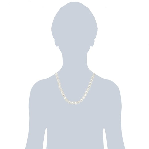 Náhrdelník s bílými perlami ⌀10 mm Perldesse Muschel, délka 50 cm