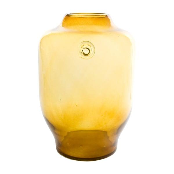 Skleněná váza, medová