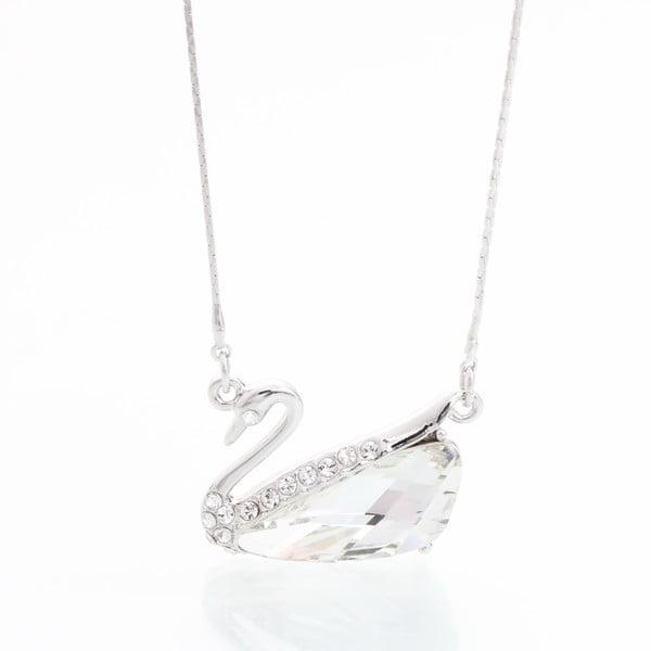 Náhrdelník s krystaly Swarovski Elements Laura Bruni White Swan