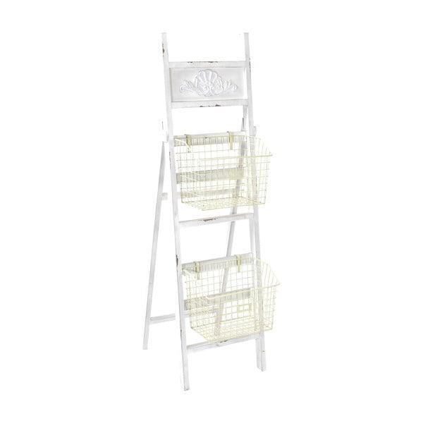 Dřevěný žebřík s košíky Ladder