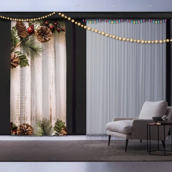 Pine Tree karácsonyi függöny, 140 x 260 cm