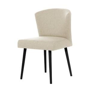 Krémová jídelní židle s černými nohami My Pop Design Richter