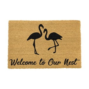 Rohožka Artsy Doormats Welcome To Our Nest Flamingo, 40 x 60 cm