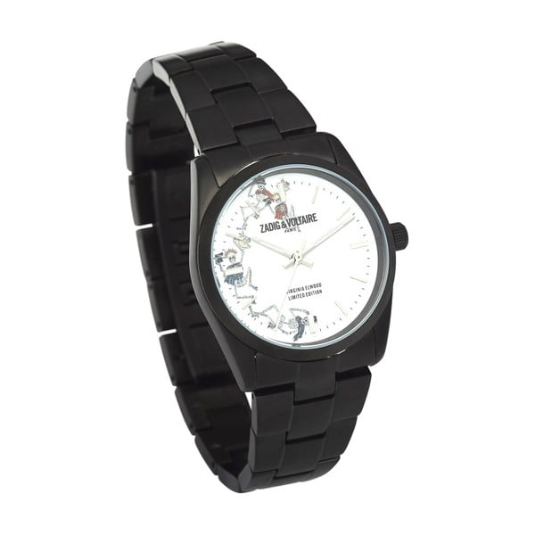 Dámské černé hodinky Zadig & Voltaire Odyssey