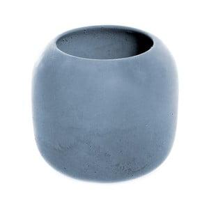 Modrý betonový kelímek na kartáčky Iris Hantverk