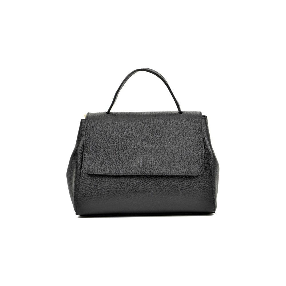 Černá kožená kabelka Anna Luchini Ema Nero 55d2a549991