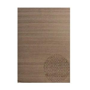 Vlněný koberec Kyla Brown, 140x200 cm