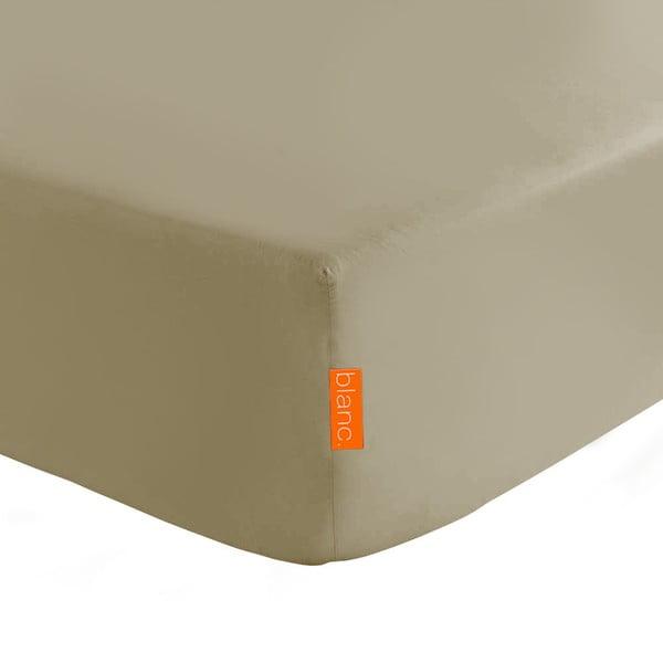 Světle hnědé elastické prostěradlo HF Living Basic, 180x200cm