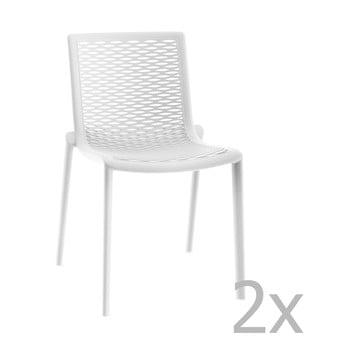 Set 2 scaune de grădină Resol Net-Kat, alb