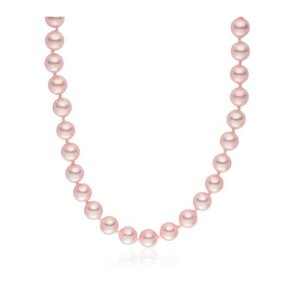 Růžový perlový náhrdelník Pearls of London Mystic, délka 45cm