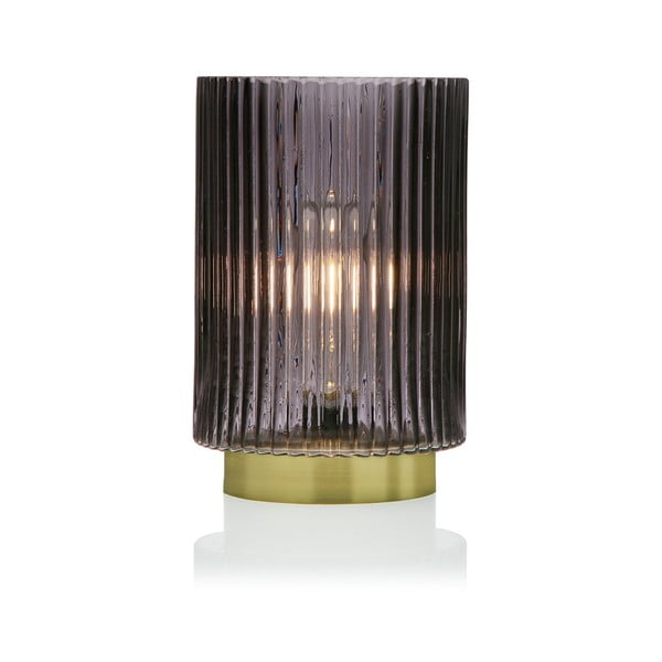 Relax szürke üveg LED lámpás, ⌀ 15 cm - Versa