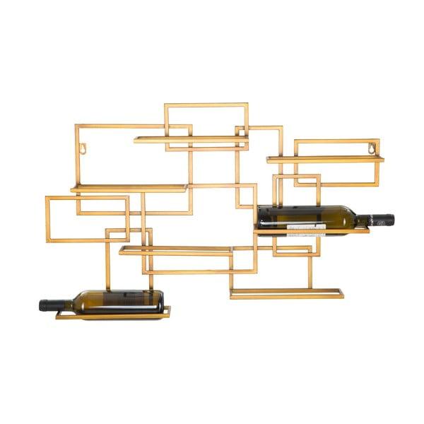 Nástěnný držák na lahve ve zlaté barvě Mauro Ferretti Diodoro, 80x50cm