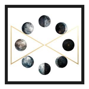 Obraz na plátně Marmont Hill Moon Phases, 41 x 41 cm