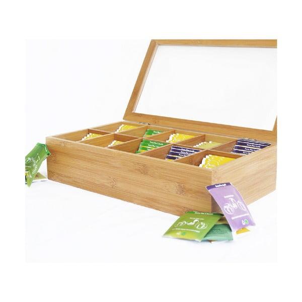 Bambusový úložný box na čaje Bambum Bonte