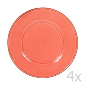 Sada 4 talířů Constance Coral, 28.5 cm