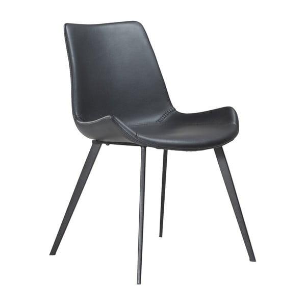 Czarne krzesło DAN–FORM Hype Faux
