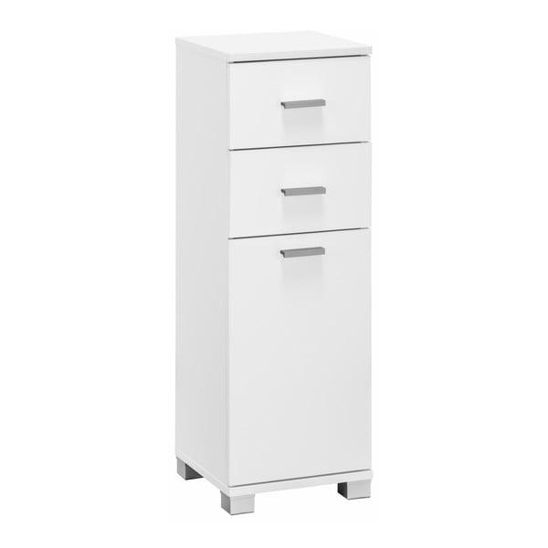 Rhonda fehér fürdőszoba szekrény ajtóval és 2 fiókkal - Støraa