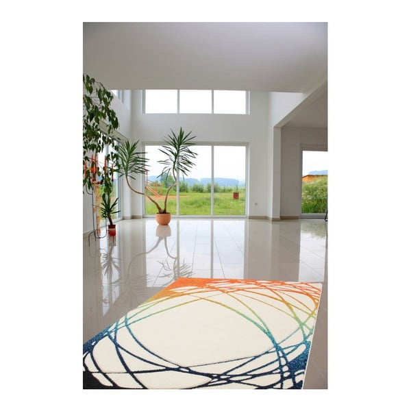 Koberec Lifestyle 111 white/orange, 120x170 cm