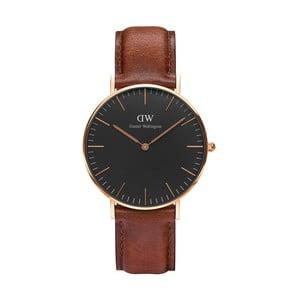 Unisex hodinky s hnědým páskem Daniel Wellington St Mawes Rose, ⌀36mm