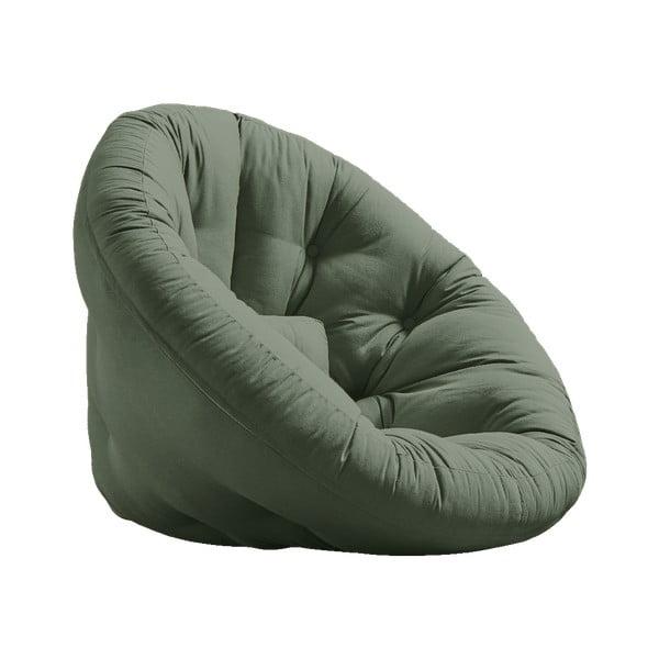 Nido Olive Green zöld kinyitható fotel - Karup Design