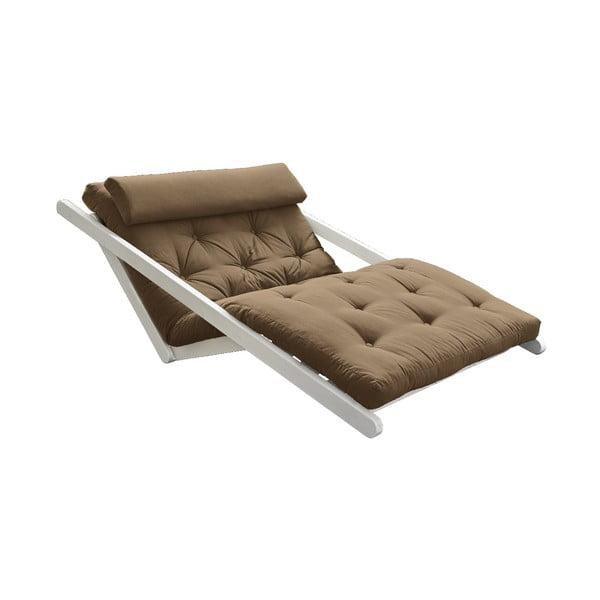 Canapea extensibilă Karup Design Figo White/Mocca