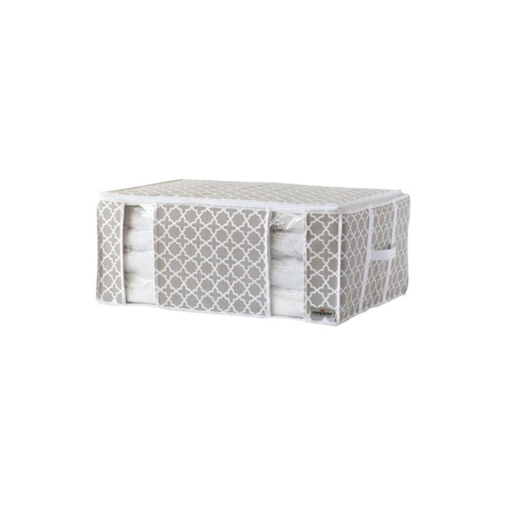 Béžový úložný box s vakuovým obalem Compactor, objem 210 l