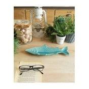 Bol decorativ din ceramică Orchidea Milano Fish, turcoaz