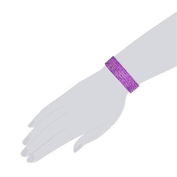 Náramek Simply Violet, 21 cm
