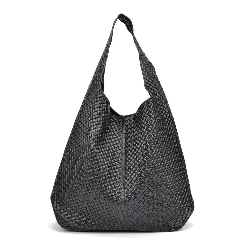 Černá kožená kabelka Magnotti Bags Lui