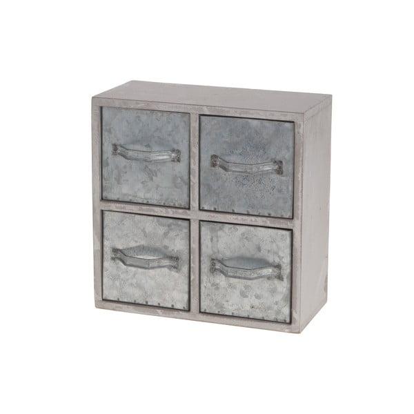 Dřevěná skříňka s kovovými šuplíky Dijk Natural Collections Oscar