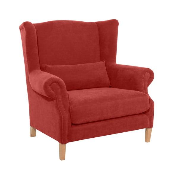 Velor piros füles fotel - Max Winzer