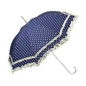 Umbrelă Von Lilienfeld Plain Mary Polkadots, alb-albastru