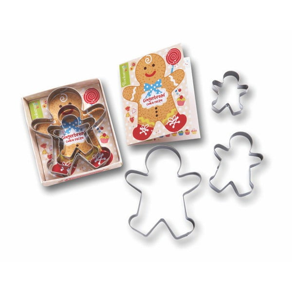 Zestaw 3 foremek do ciastek Cooksmart England Gingerbread
