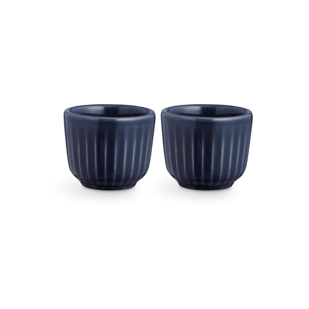 Sada 2 tmavě modrých porcelánových misek na vajíčka Kähler Design Hammershoi, ⌀ 5 cm Kähler Design