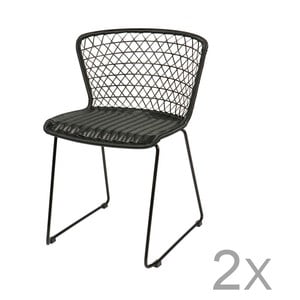 Sada 2 černých židlí De Eekhoorn Quadro
