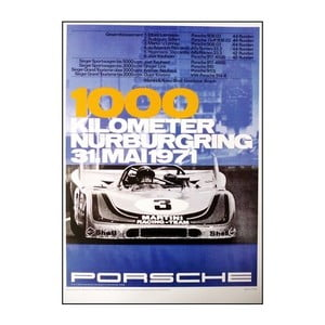 Plakát Porsche 1000 km Nürburgring 1971, 70x50 cm