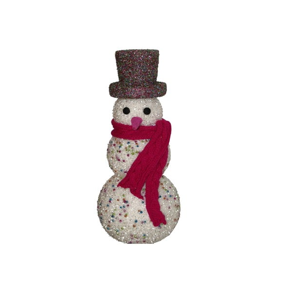 Dekorativní soška Glitter Snowman