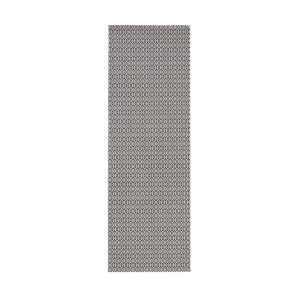 Covor adecvat interior/exterior Bougari Meadow, 80 x 150 cm, alb-negru