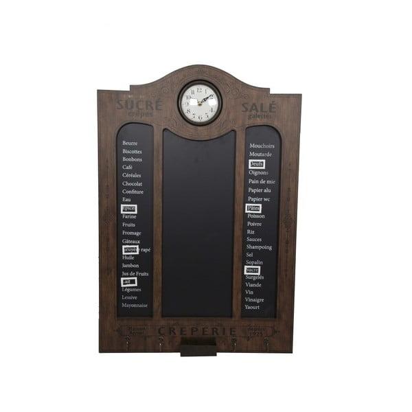 Nástěnná popisovací tabule s hodinami Antic Line