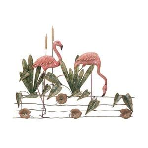 Nástěnná dekorace Mauro Ferretti Flamingo, 88x68,5cm
