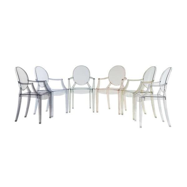 Transparentní židle Kartell Louis Ghost