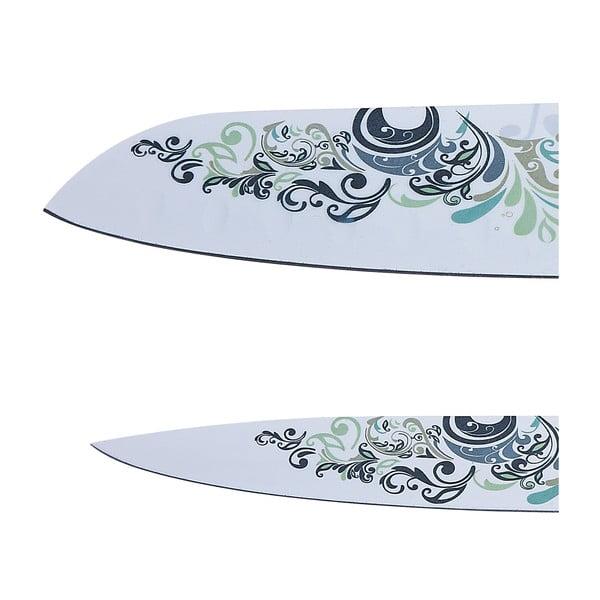 Sada nožů, 4 ks, zelenobílá