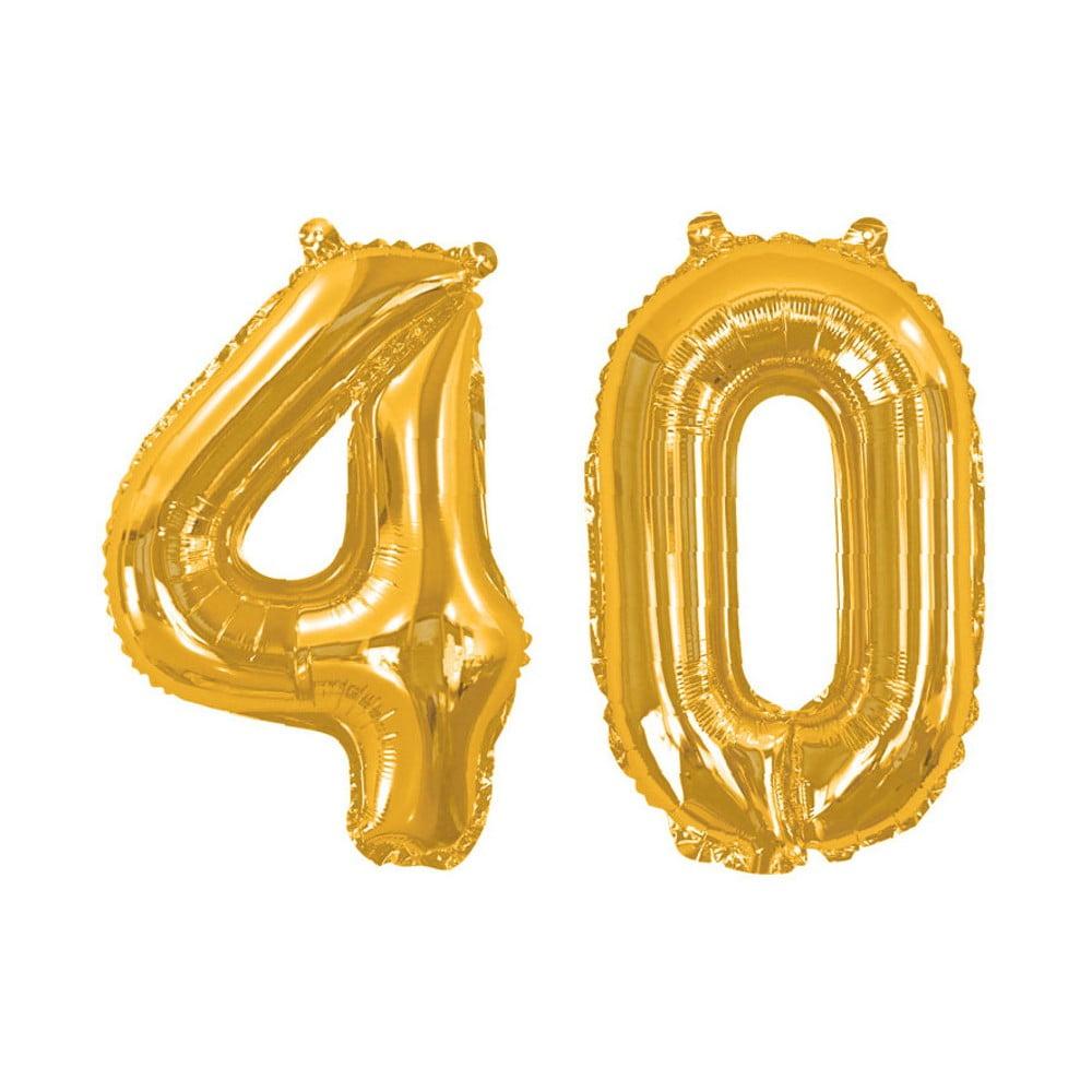 Balónek s číslem 40 Neviti Gold