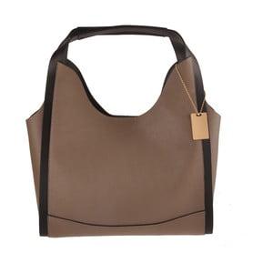 Světle hnědá kožená kabelka Florence Bags Maan