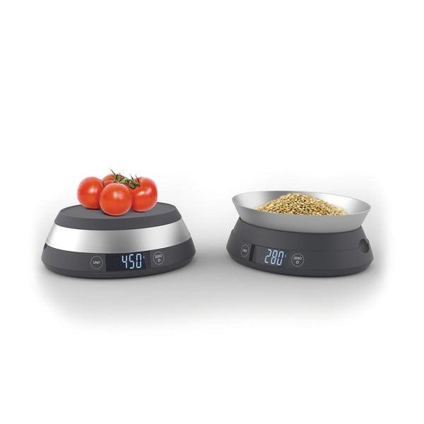 Šedá digitální kuchyňská váha Joseph Joseph Switch