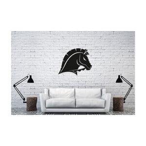 Černá nástěnná dekorace Oyo Concept Horse, 50x40cm